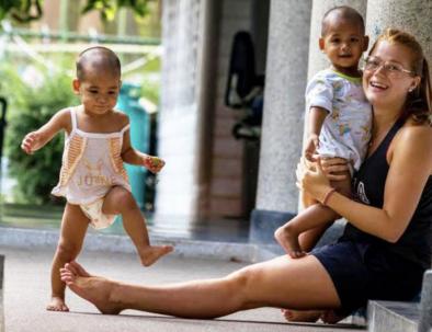 Barnhem utanför Bangkok i spännande Thailand