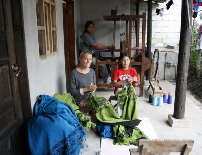 Skola, daghem eller vård i den lilla byn Peguche
