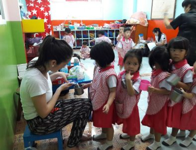 Barnomsorg i Chiang Mai i norra delen av Thailand