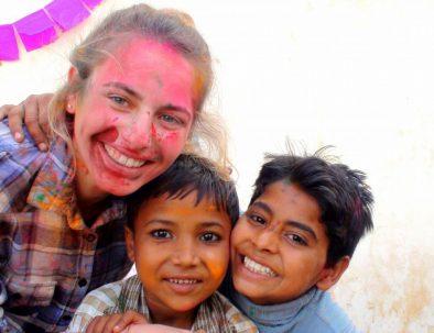 Undervisning och barnhem i Jaipur