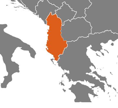 Albanien på kartan