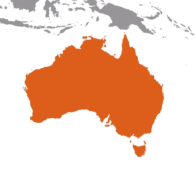 Australien på kartan