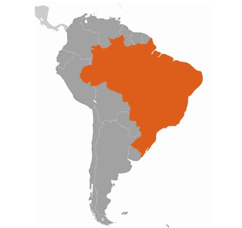 Brasilien karta