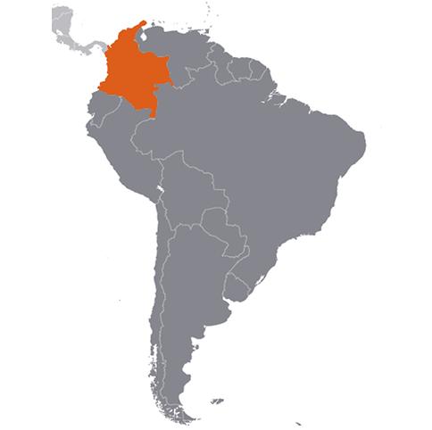 Colombia karta