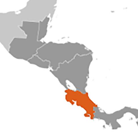 Costa Rica karta
