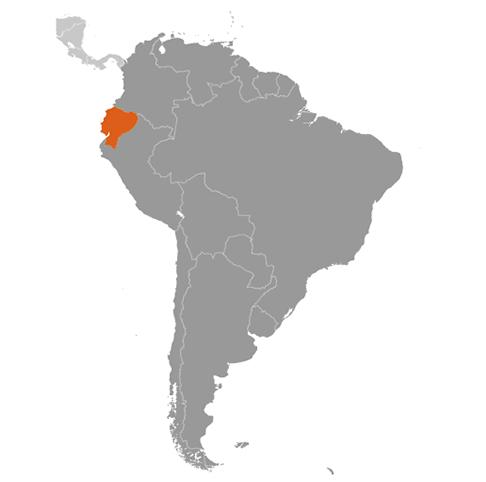 Ecuador karta