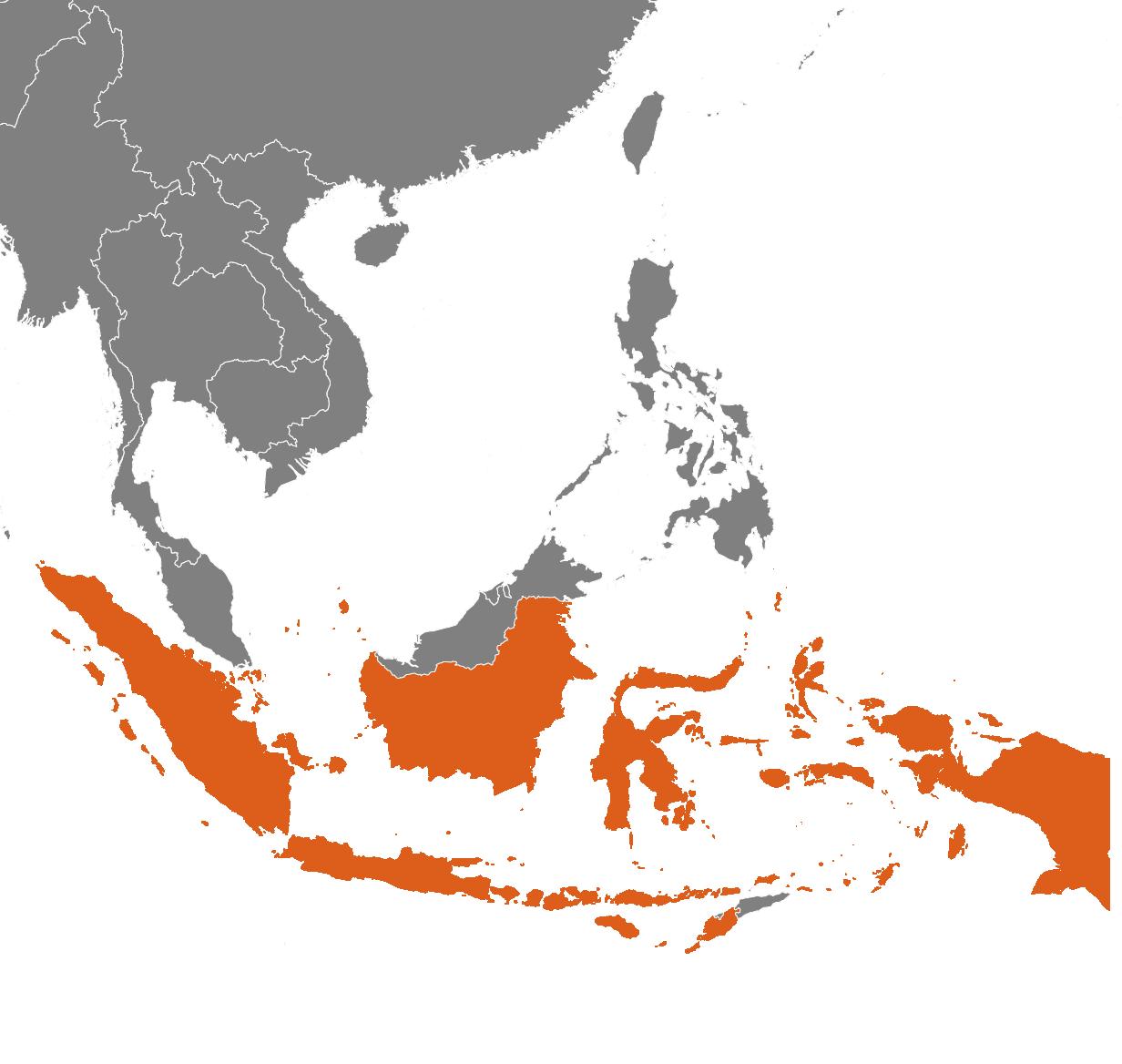 Indonesien på kartan