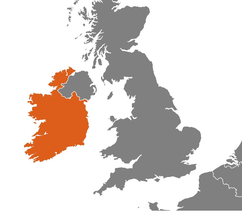 Irland på kartan