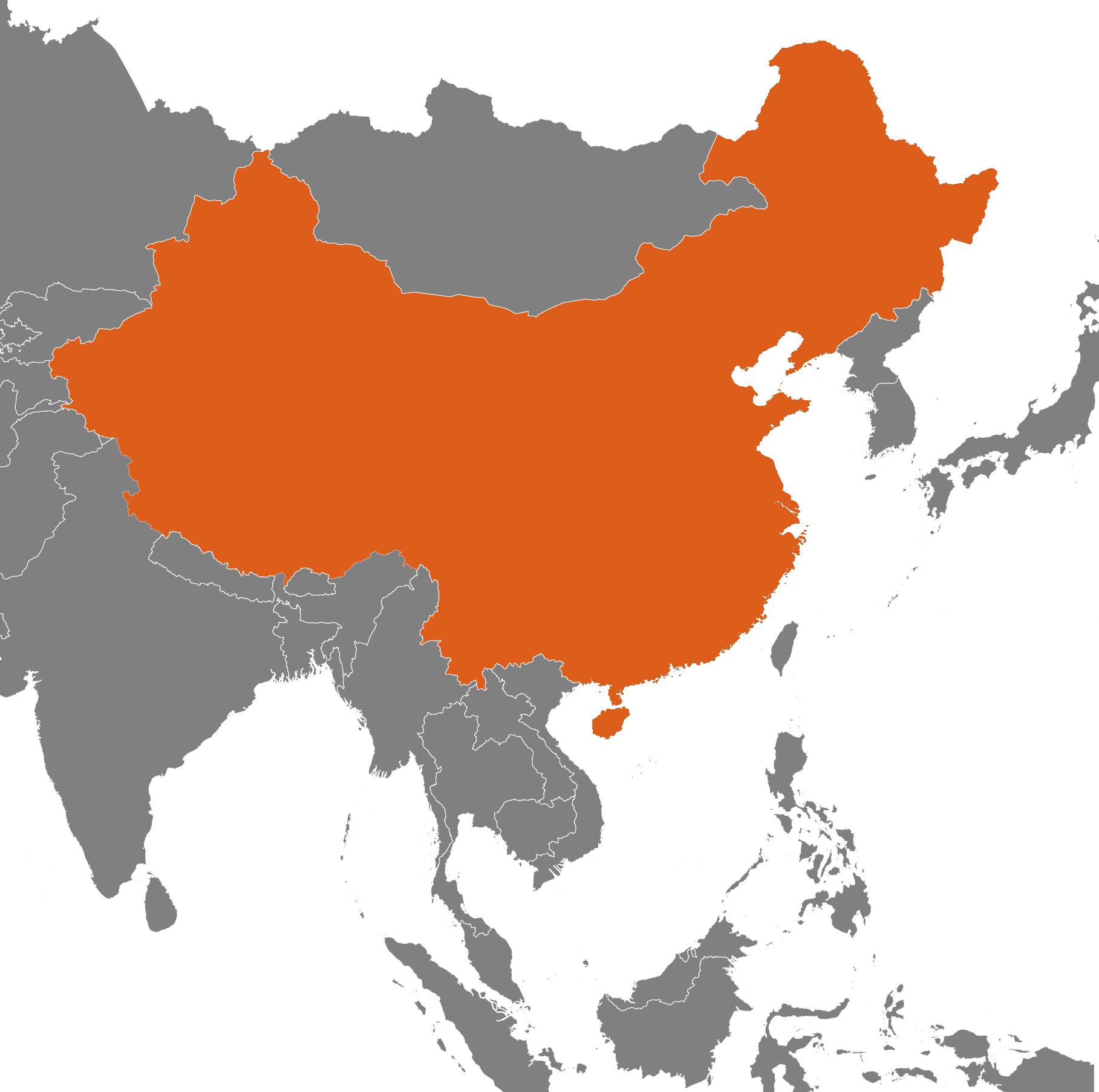 Kina på kartan