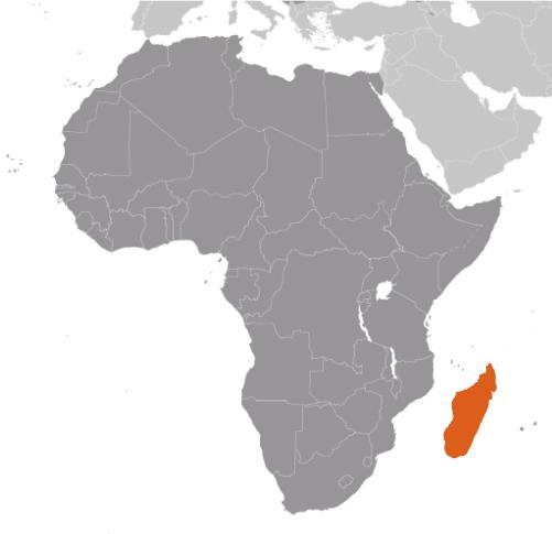 Madagaskar karta