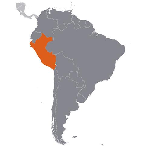 Peru på kartan