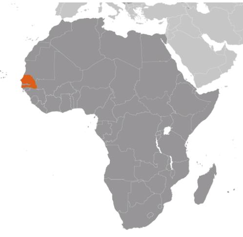 Senegal karta