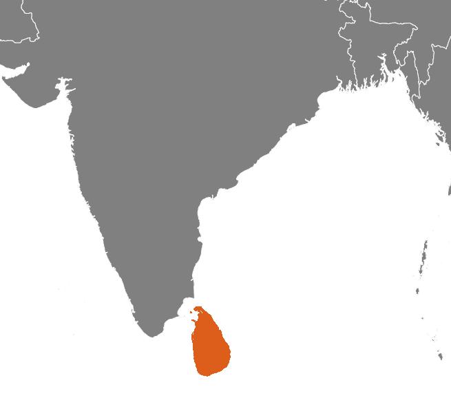 Sri Lanka på kartan
