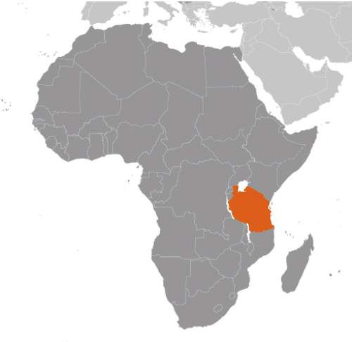 Tanzania karta